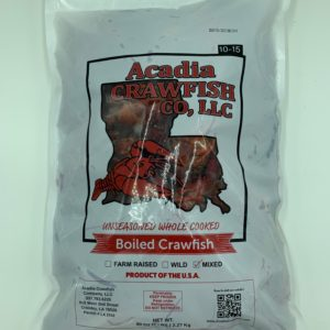 select whole cooked crawfish