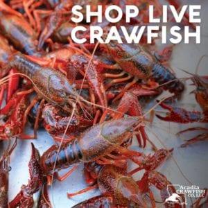 half sack live crawfish